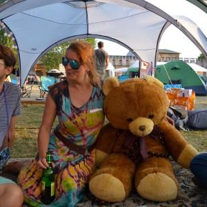 Britta auf CCC mit Teddy