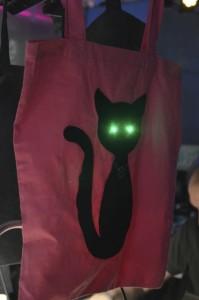 LED Jute-Beutel Katze